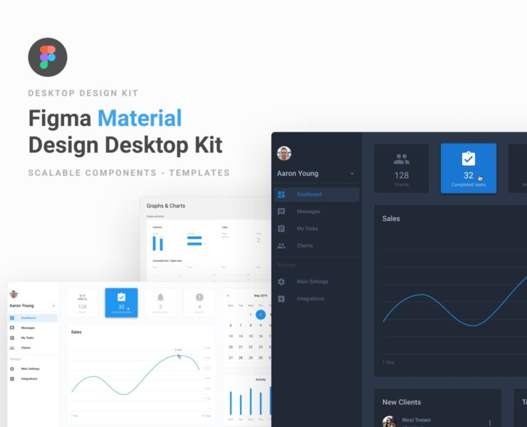 Figma Material Design Desktop UI Kit
