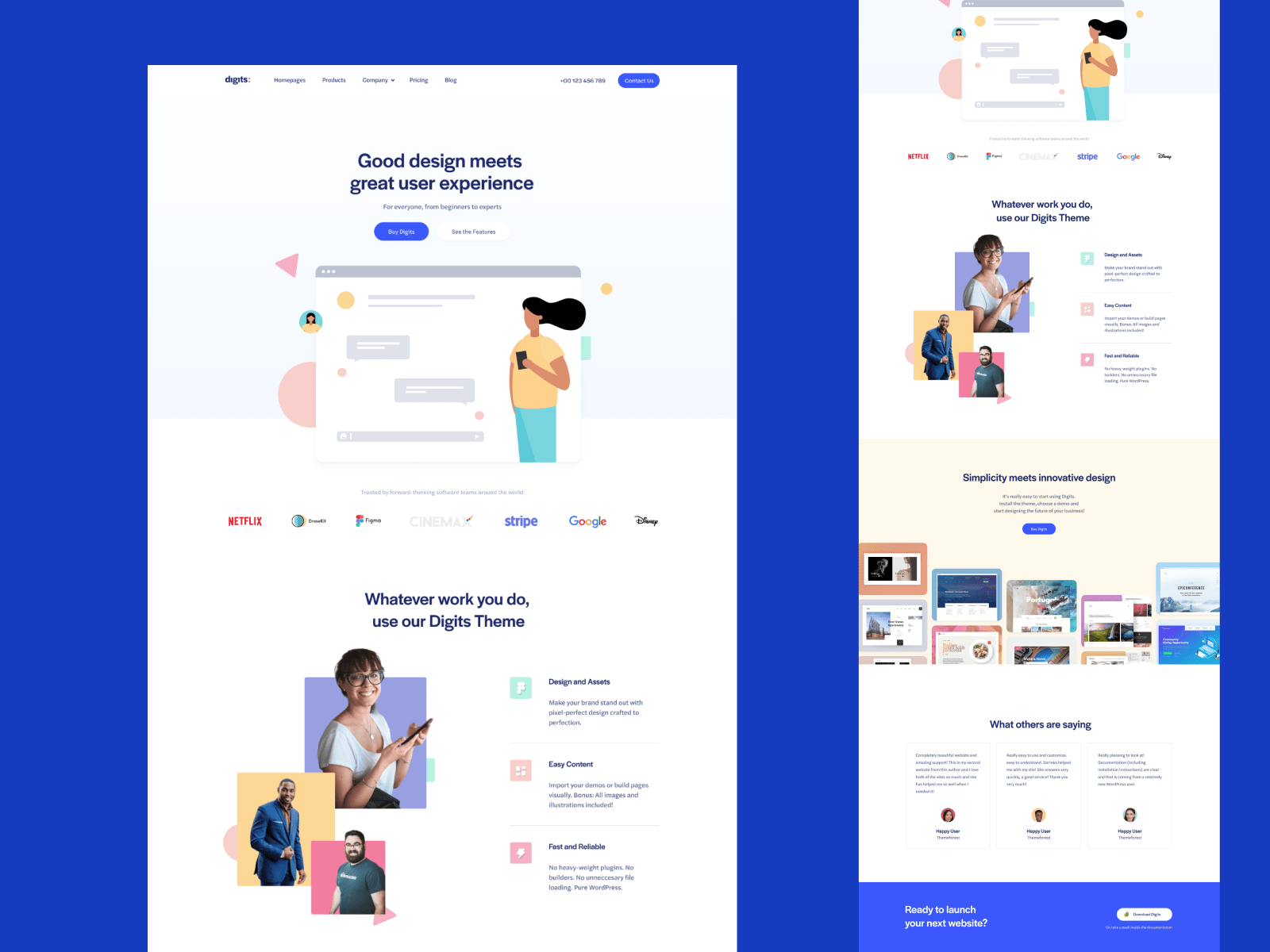 grid landing page template figma