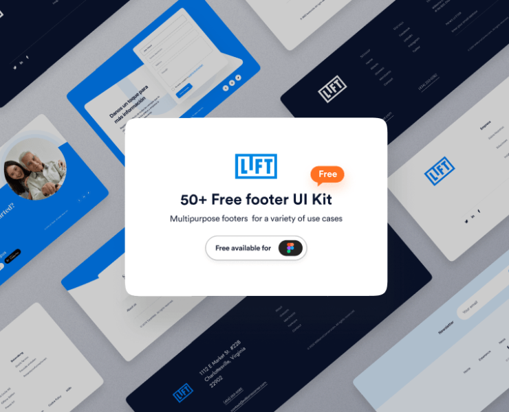 Figma footer template